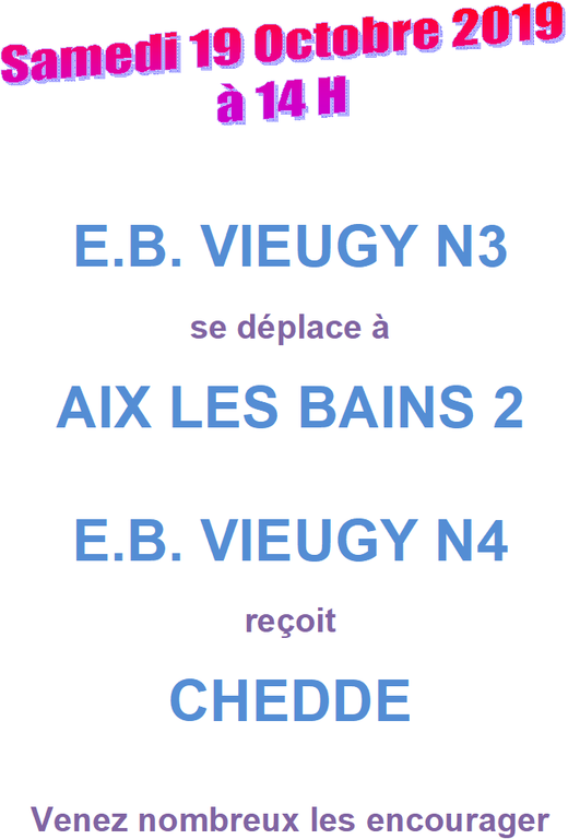 Annonce matchs